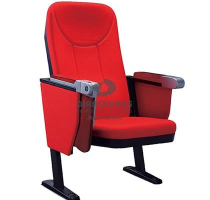 红款阻燃面料礼堂椅子-DC-4033X2