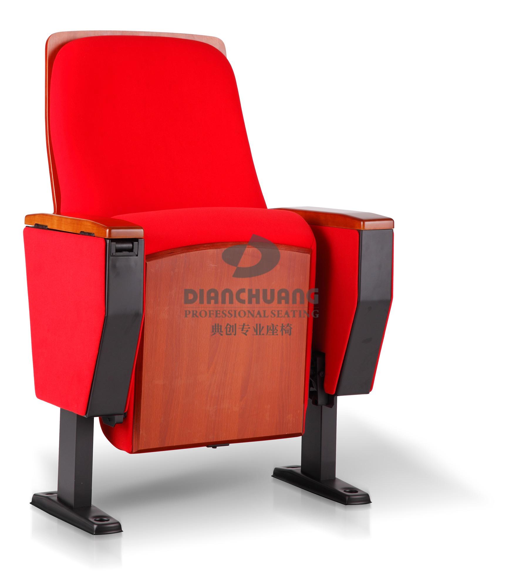 红色款单排固定脚礼堂椅子-5032