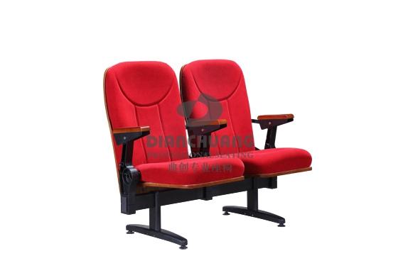 红色双人坐款礼堂椅子-Z18